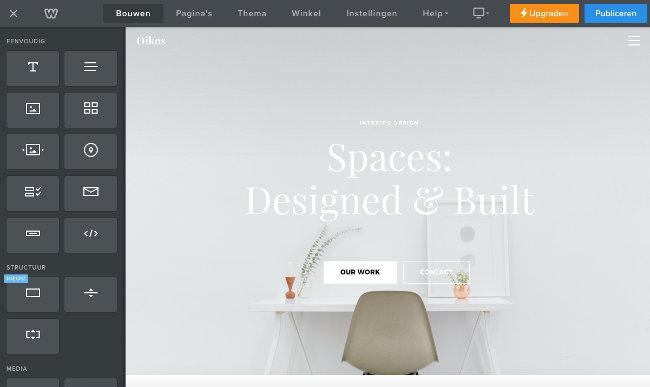Gratis website bouwen
